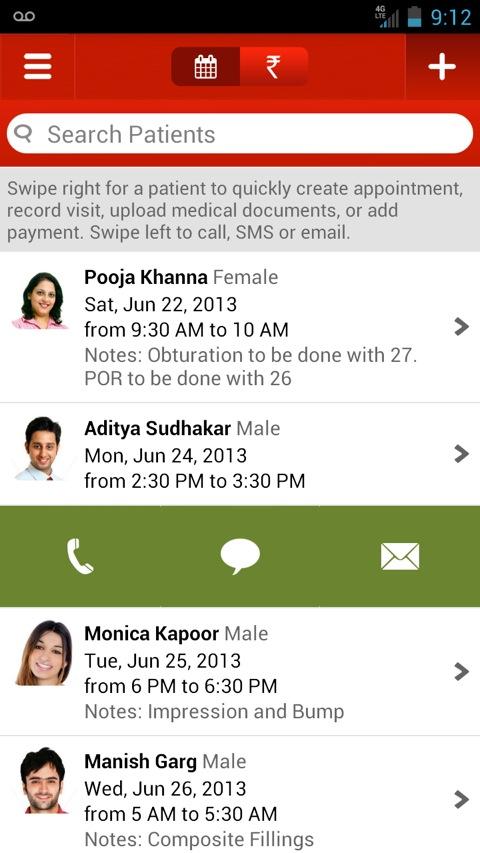 Lybrate Android App Swipe Left