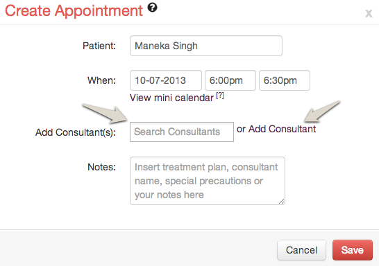 Lybrate Add Consultants to Appointment