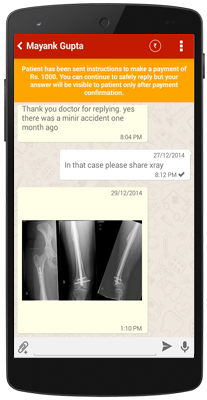 Ask Question Privately to a Doctor