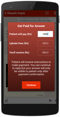 Get paid for consultation online