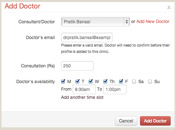 Add additional Doctor