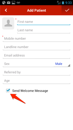 Send welcome message