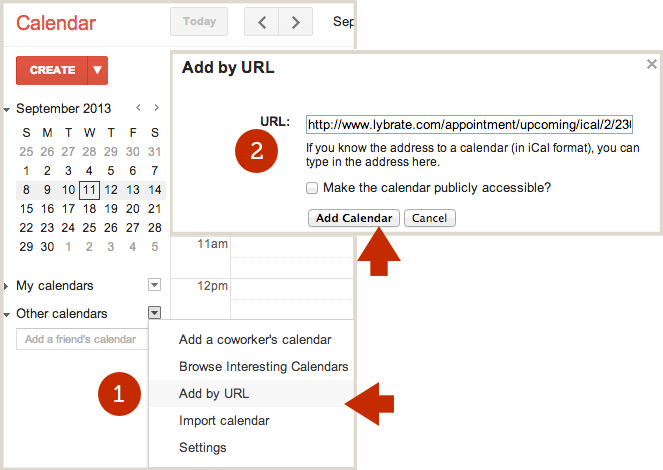 Subscribe to Lybrate Calendar from Google Calendar