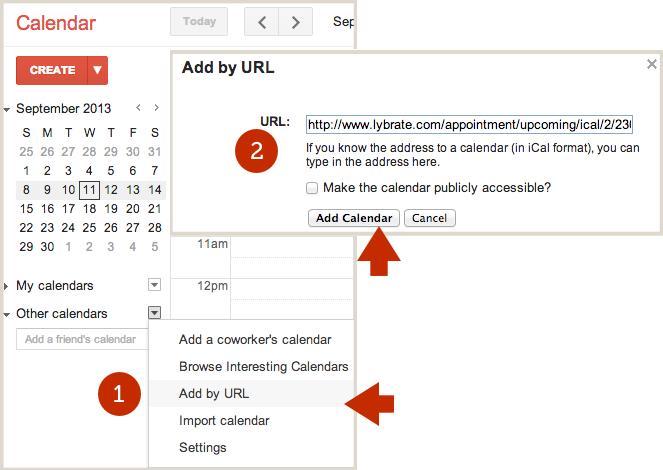 Subscribe to Lybrate Calendar from Google Calendar