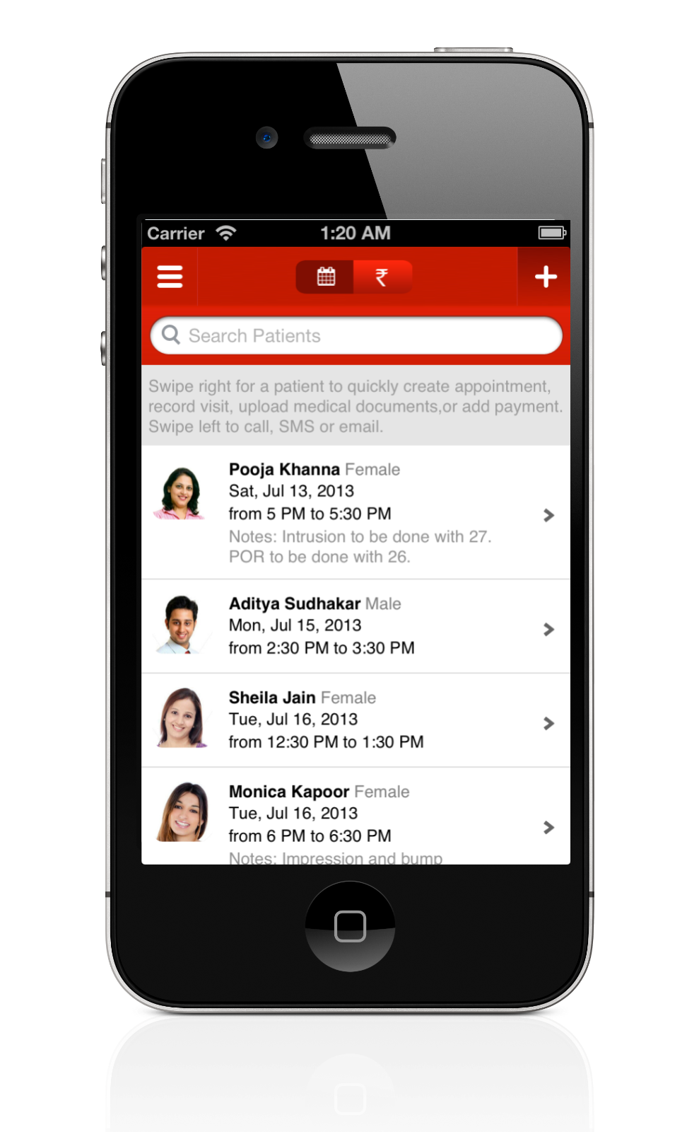 Lybrate Android App Upcoming Appointments