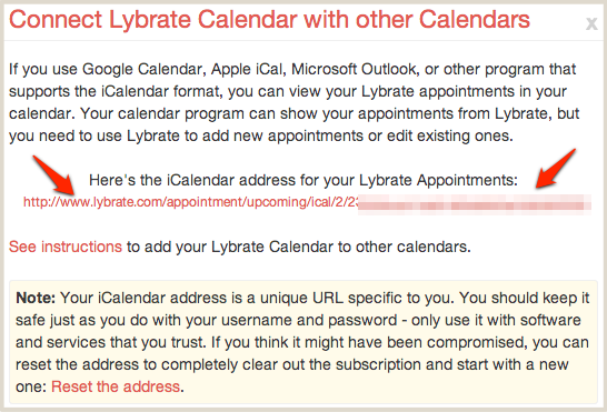Lybrate Calendar address