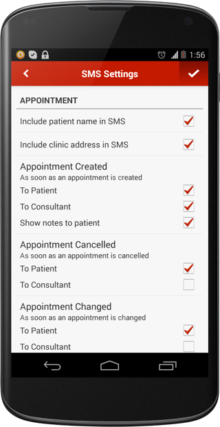 Manage SMS Settings from Lybrate - Practice Management Mobile App