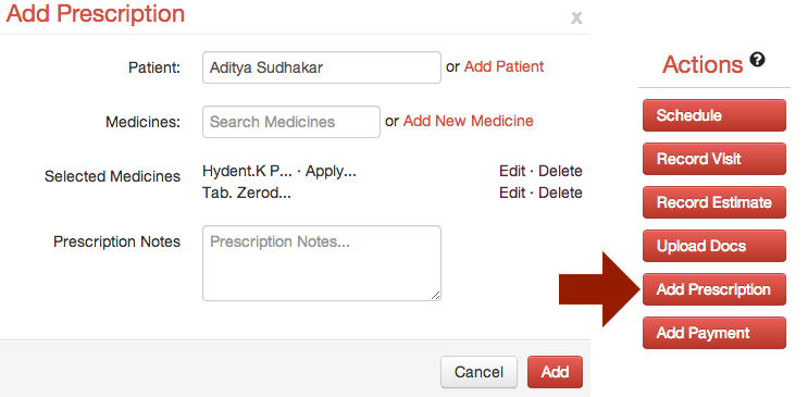 Add Prescription
