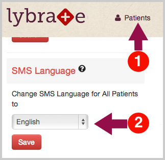 Change SMS Language Preference