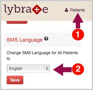 Change SMS Language Preference